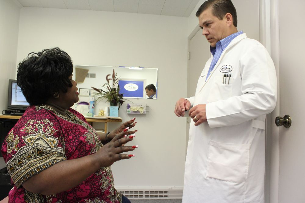 Fort Wayne Chiropractor Dr. Busch with chiropractic patient