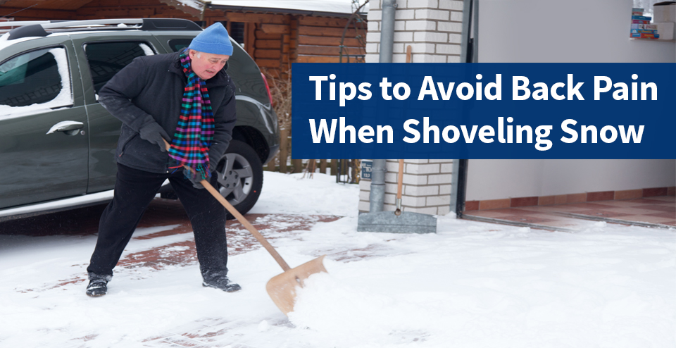 shoveling tips to avoid back pain